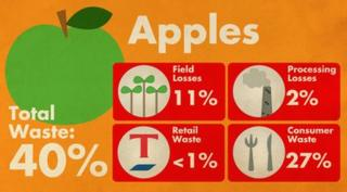 Apples waste statistics