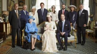 Prince George and his extended family.