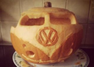 A campervan pumpkin