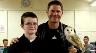 Alexander with Steve Backshall