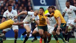 England vs Australia Rugby