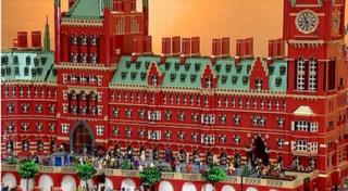 The model of London's St Pancras station consists of 150,000 pieces of Lego