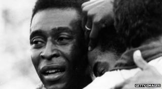 Pele cries after winning 1970 world cup