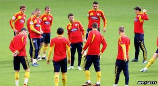 Romanian team in training
