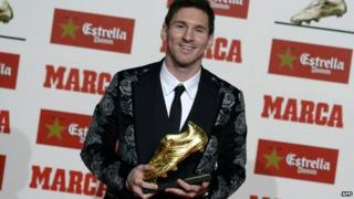 Lionel Messi with Golden Boot