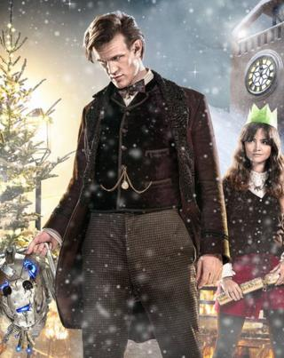 Matt Smith as Doctor Who and Jenna Coleman as Clara