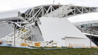Accident site at Arena Corinthians