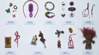 Collection of confiscated toys.