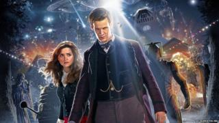 The Doctor and Clara surrounded by their enemies.