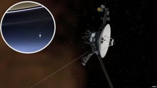 Voyager 1 and Earth shot