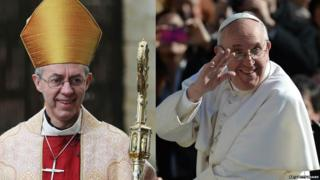 Archbishop of Canterbury and Pope Francis