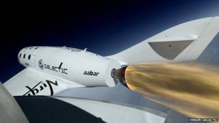 Virgin Galactic craft in flight