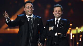 Ant & Dec at the National Television Awards 2014