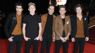One Direction on the red carpet