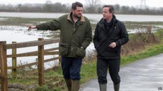 Farmer Tim Hook and Prime Minister David Cameron