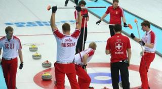 Russia win curling match