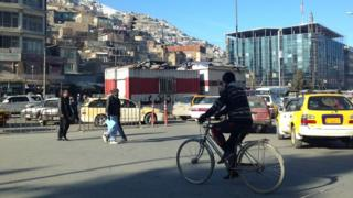 Busy road in Kabul