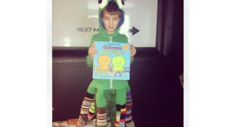 Ritchie has raided the sock drawer to make a fantastic Octopus Socktopus from the book by Nick Sharratt.