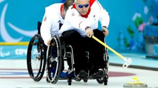 GB's wheelchair curlers