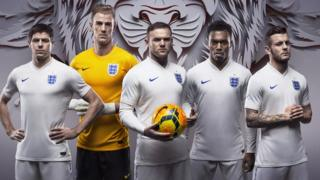 England's all-white home kit
