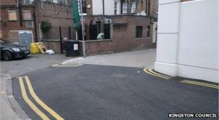 An picture of the road markings