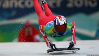 Amy Williams in the skeleton event
