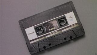 In the 1970's cassette tapes were widely used to record and listen to music. They used magnetic tape, and the music played through from left to right. Once one side was done, you flipped it over for more songs on the other.