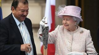Prince Imran Tunku and Queen Elizabeth II