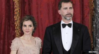 Crown Prince Felipe and his wife