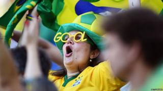 A fan in Brazilian colours