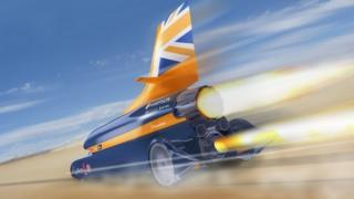 Artist impression of Bloodhound car