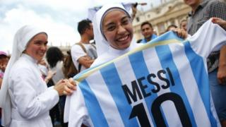Nun and Messi shirt