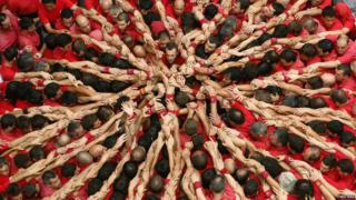 human tower called castells