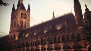 A large cathedral-like building, the In Flanders Fields Museum