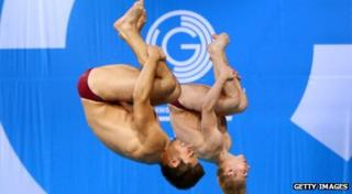 Jack Laugher and Chris Mears somersault