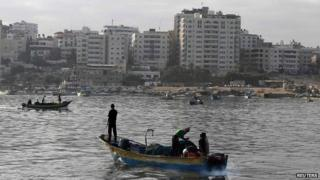 Palestinian fishermen in Gaza City return to sea during a 72-hour ceasefire - 11 August 2014