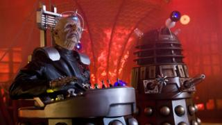 Davros and a Dalek