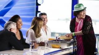 The X Factor judges are offered Chinese food
