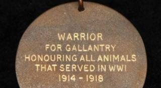Reverse of Warrior's Honorary PDSA Dickin Medal