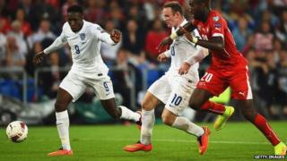 England vs Switzerland in Euro 2016 qualifier.