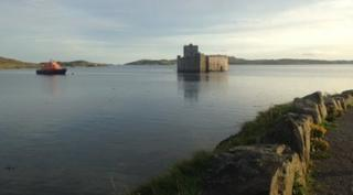 Castlebay in Barra - there's a castle, and a bay