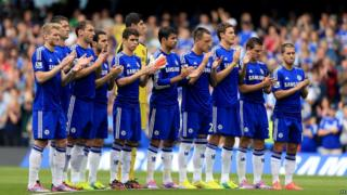 Chelsea football team line up
