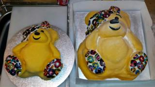 Pudsey bear cakes
