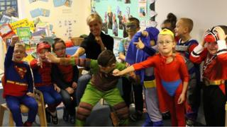 Natalie Lowe at a school
