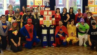 Teachers in fancy dress
