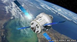 Artist's impression of Orion space capsule