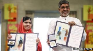 Malala Yousafzai and Kailash Satyarthi