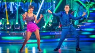 Frankie and her dancing partner on Strictly Come Dancing