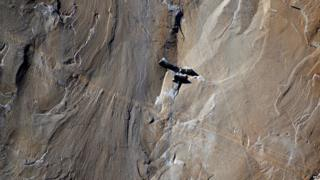 Climbers rest on El Capitan
