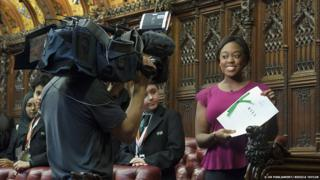 Ayshah Tull in the House of Lords